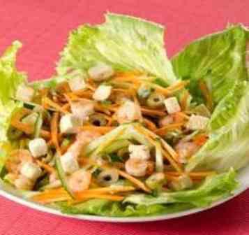 Salada China House Camarão