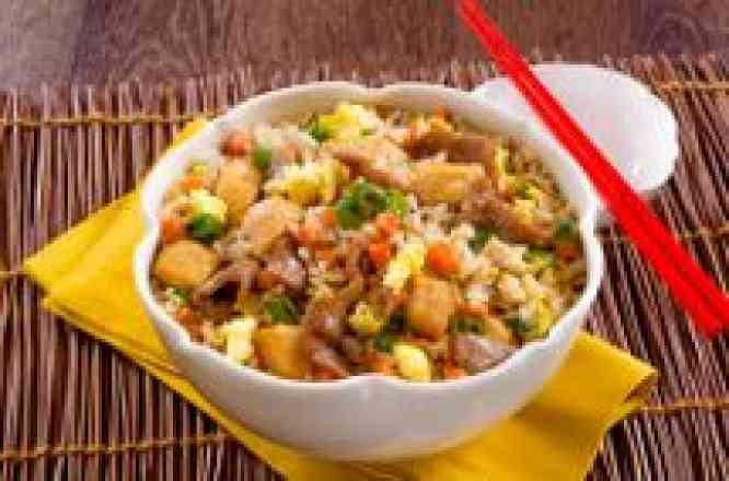 Arroz ao Shoyu com Carne e Frango - Padrão