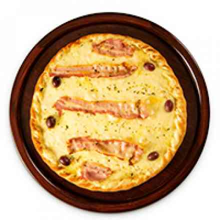 Pizza de Muzzarela com bacon (brotinho)