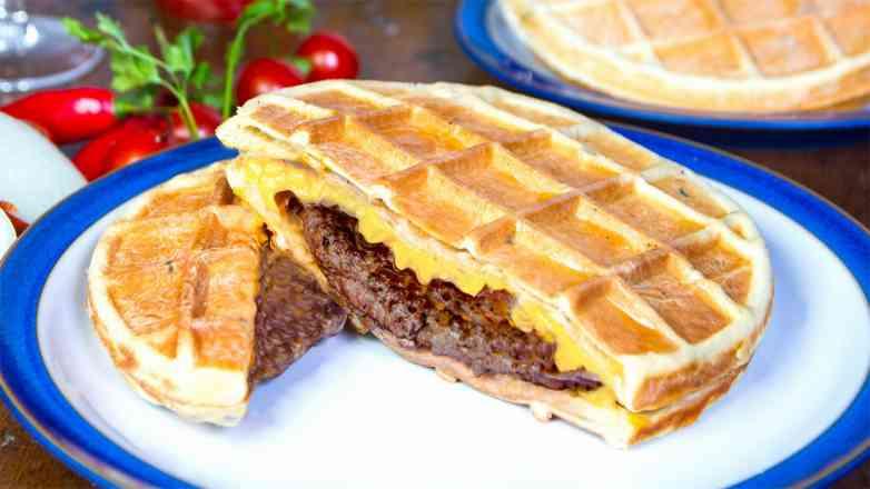 Waffle Veggie burger