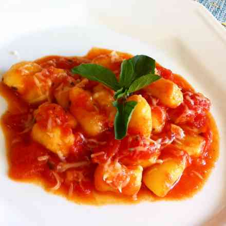 Nhoque de Batata ao Molho de Tomate Italiano