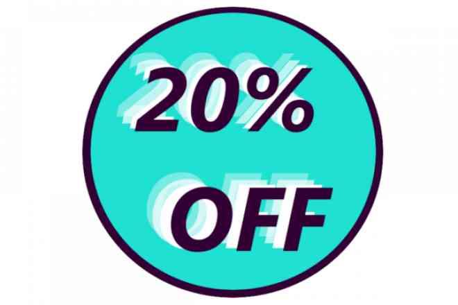Complete seu pedido e ganhe desconto de 20% em todos os produtos comprados, o desconto irá aparecer ao finalizar o pedido.