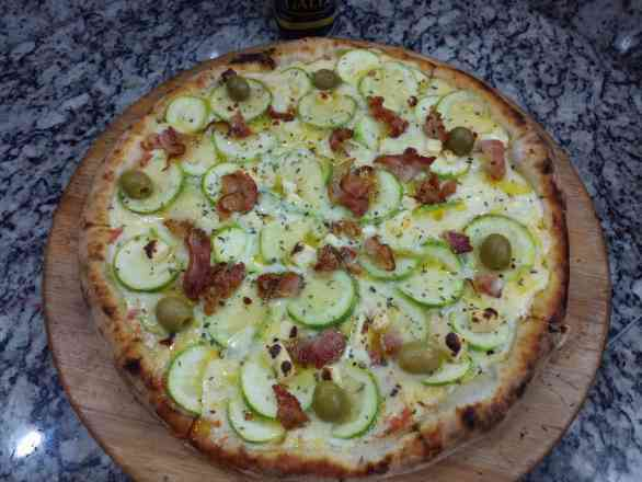 Pizza de Abobrinha - Broto