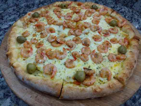 Pizza de Camarão - Broto