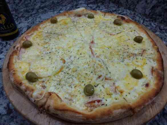 Pizza de Peito de Peru 1 - Broto
