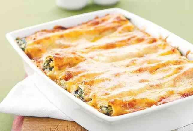 Cannelloni de Presunto com Mussarela