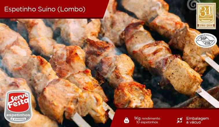 Espeto de Carne Suína (Lombo) - 1kg