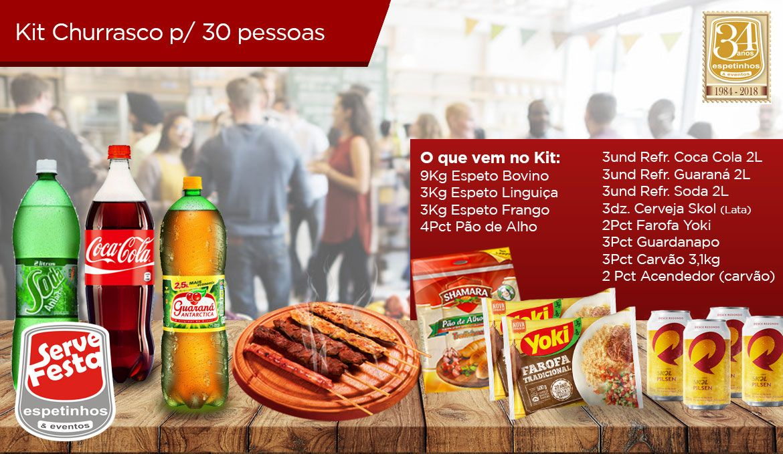 Kit Churrasco - 30 Pessoas