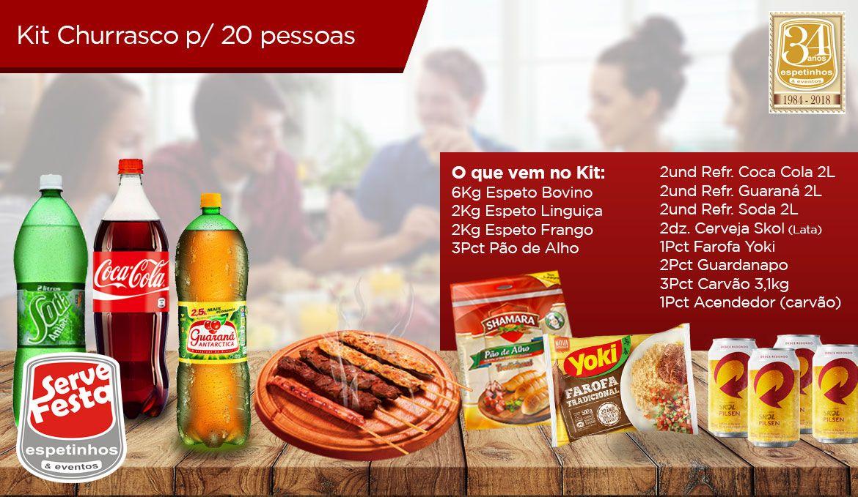 Kit Churrasco - 20 Pessoas